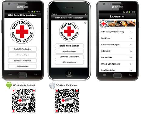 [Translate to Deutsch, leichte Sprache:] DRK Erste-Hilfe-App